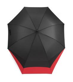 Parasol LONG duży czarny czerwony