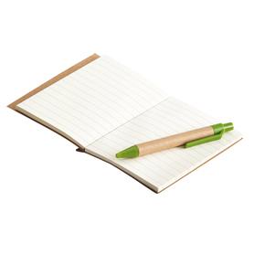 EKO Notes z długopisem LA LINEA zielony Twój grawer